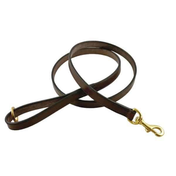 ESB Classic leather lead 20mm in Chestnut