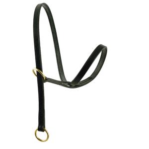 ESB Figure of 8 leather dog halter - left hand version (lead dog on your left side)