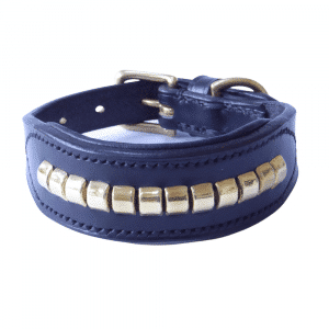 ESB Leather Clincher hound collar in black with brass
