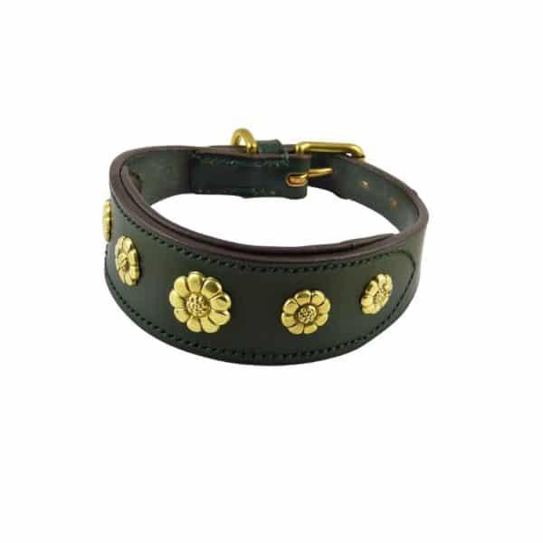 ESB Daisy sight-hound collar in green (45mm)