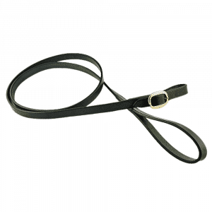 ESB Leather buckled show lead in black