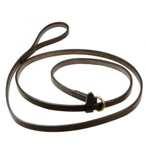 ESB Leather Slip Lead with Stop, in Havana