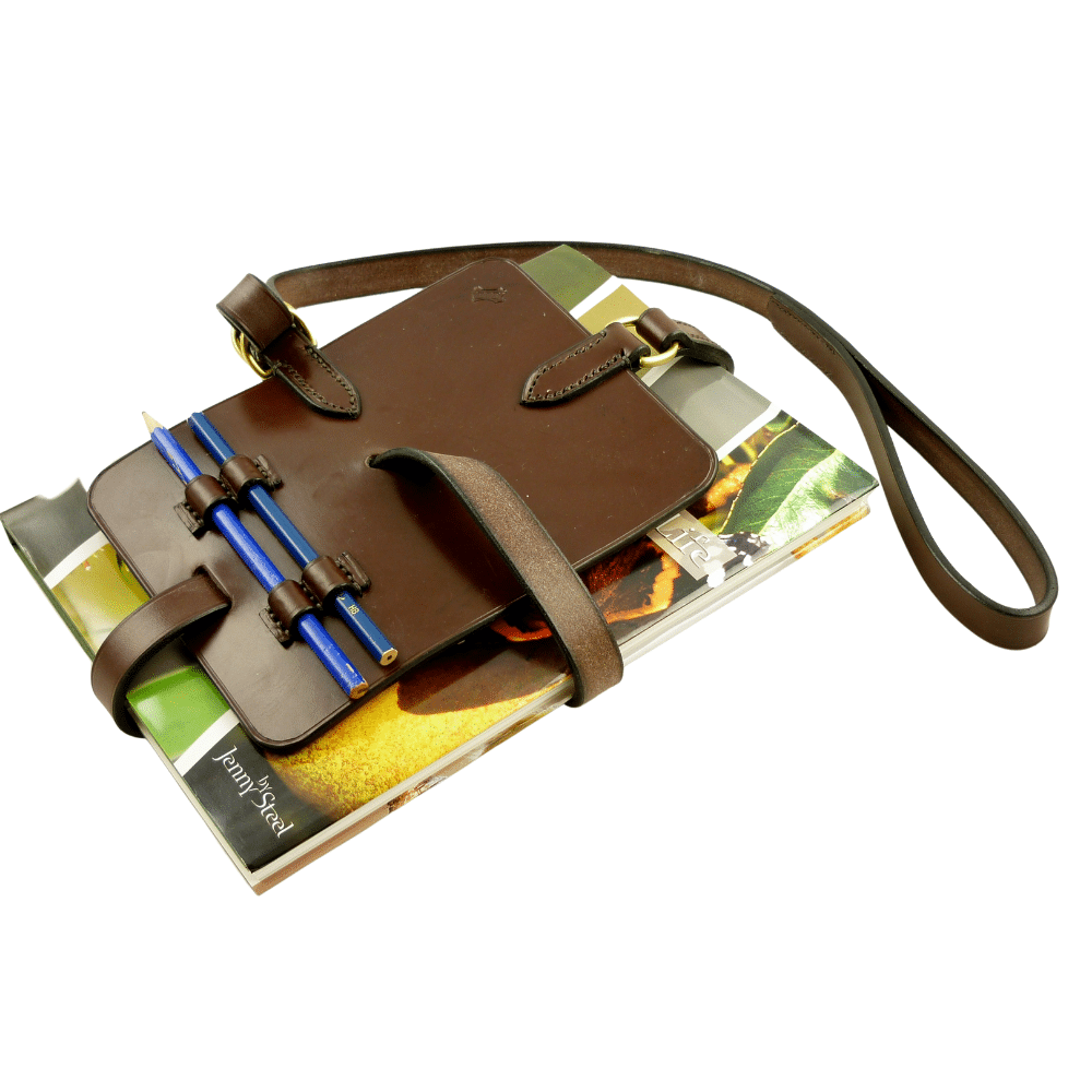 ESB Leather Book carry strap in Chestnut