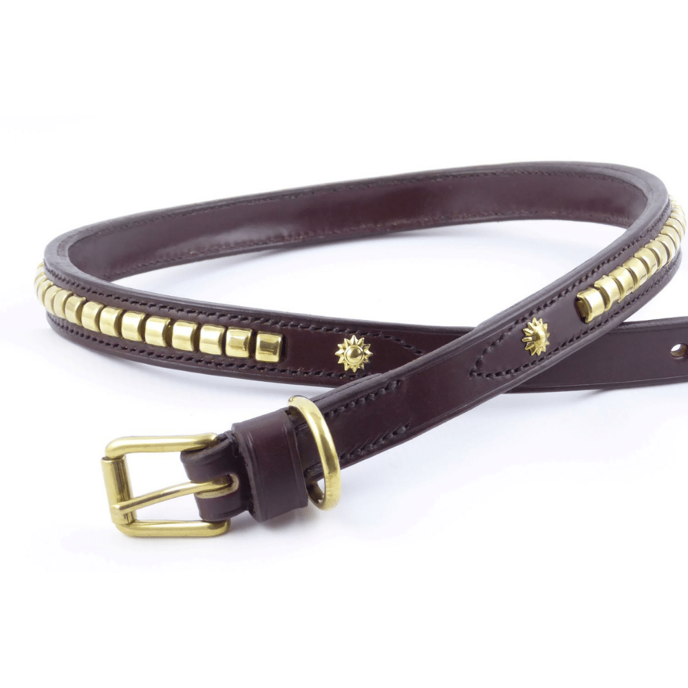 ESB Leather bespoke belt with Clincher decorations