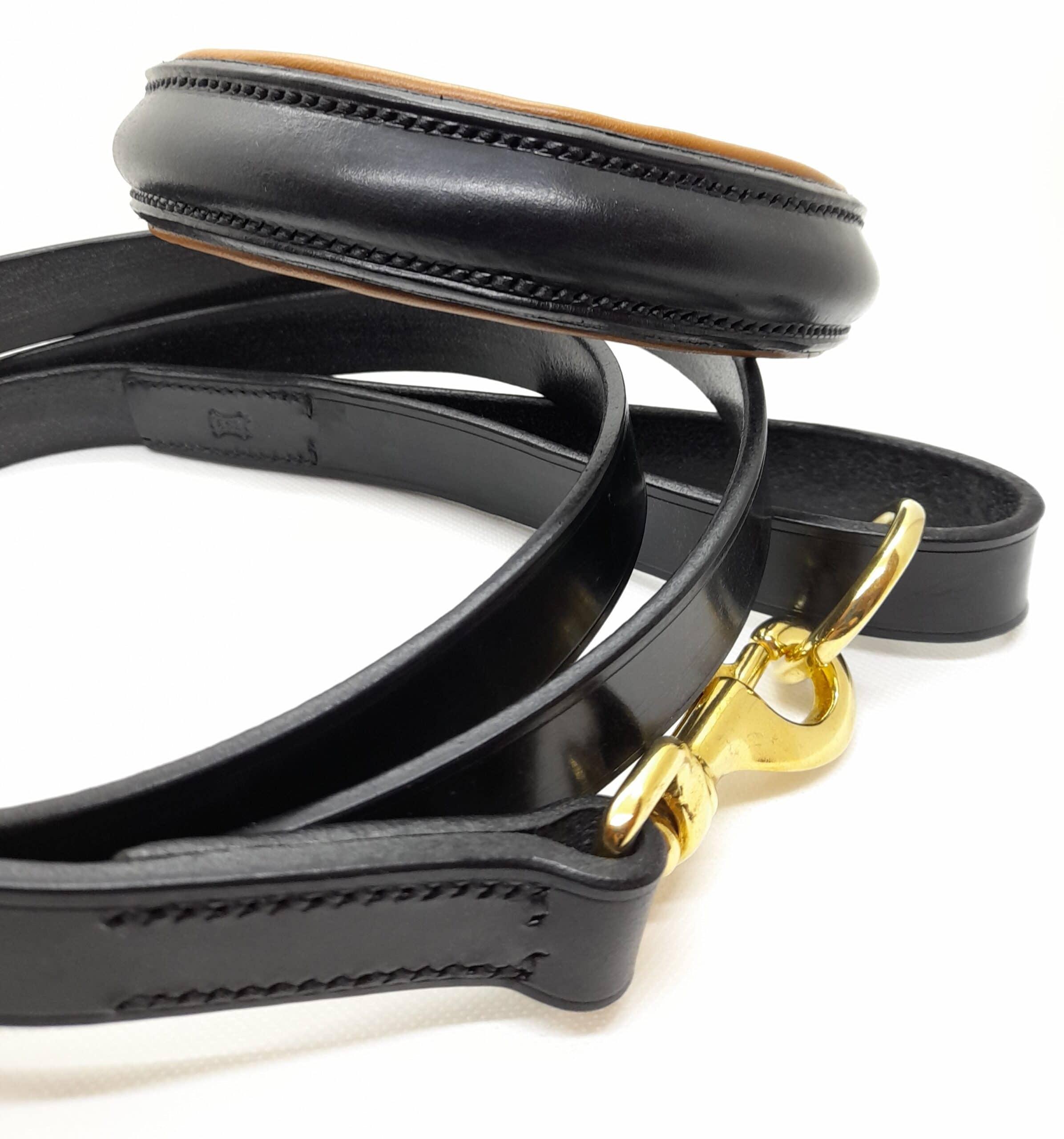 Black bridle leather